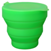 Foldable silicone cup, green