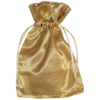 Golden satin pouch