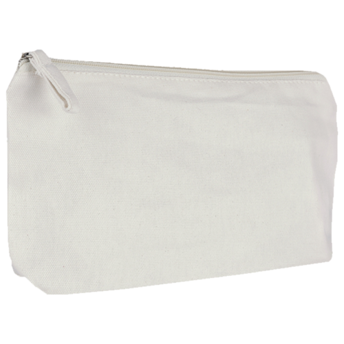 Cotton bag with zipper 25x14