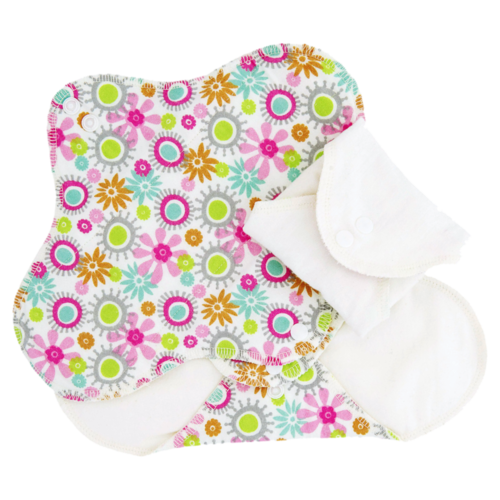 "ImseVimse Sanitary Pads Regular, ""Flowers"""