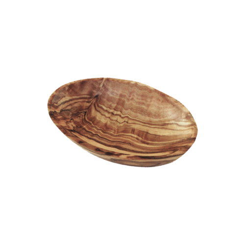 Small olive wood bowl, oval, 9 cm